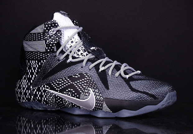 premium selection a4bf8 cabad NIKE LEBRON 12 BHM RELEASE